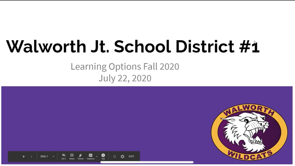 Walworth Jt. School District #1 - Fall Learning Options