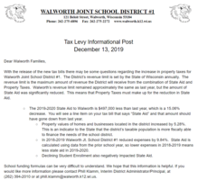 Tax Levy Information