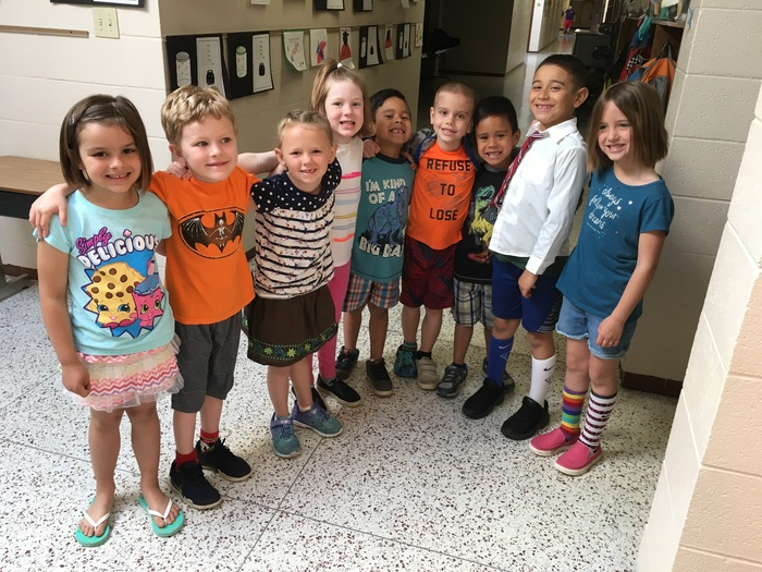 Mismatch Day in Mrs. Janney's room!