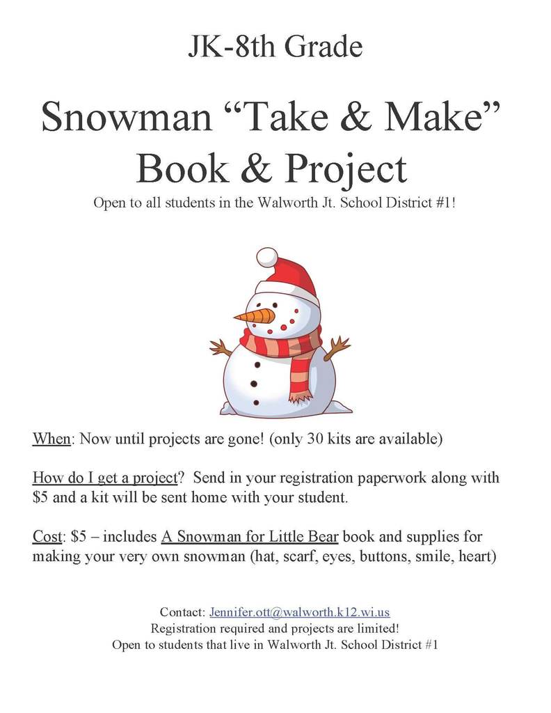 "Snowman ""Take & Make"" Book & Project"