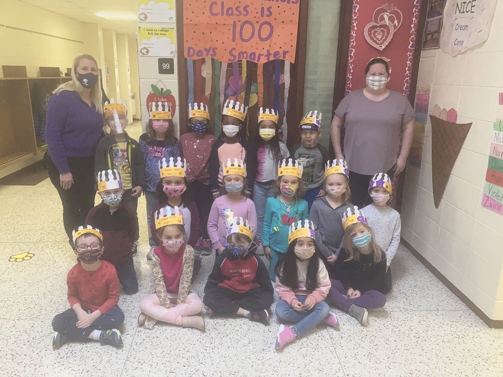 "Mrs. Hummel's Kindergarten class enjoyed celebrating the 100th Day of School and being 100 DAYS SMARTER!!  The day was filled with many ""100"" activities! ❤💯❤"