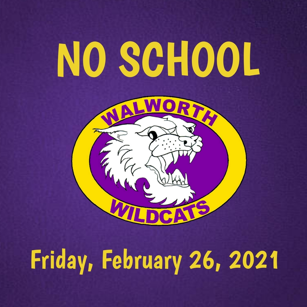 No school Friday, February 26, 2021