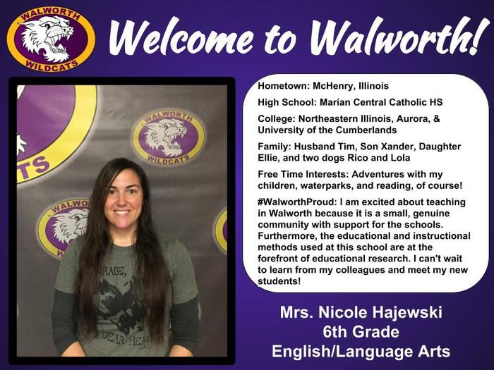 Welcome to Walworth Mrs. Hajewski