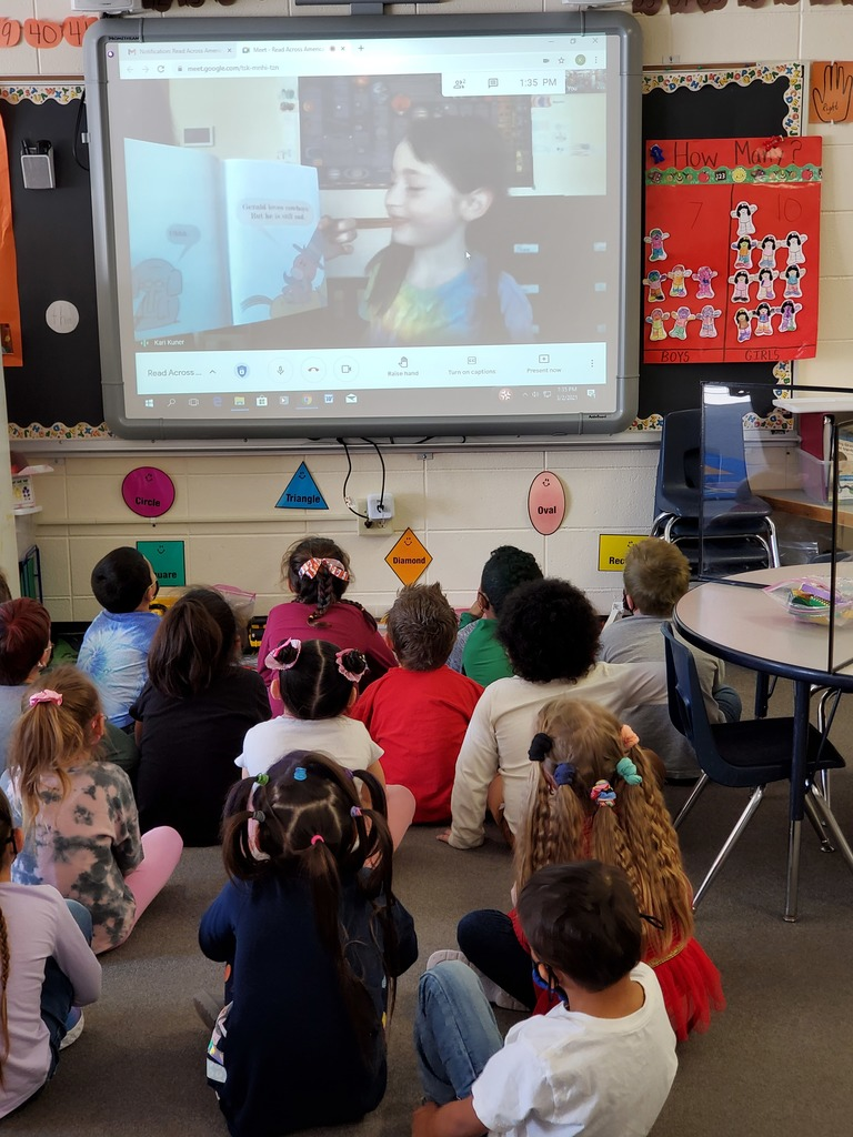 Miss Koltes' Kindergarten Class enjoyed having virtual guest readers join us for Read Across America Day.  A BIG THANK YOU to the wonderful moms, dads, and nieces and nephews that read to our class on Tuesday. ❤️📚 ❤️  #ReadAcrossAmericaDay #WeLoveReading #WalworthJ1