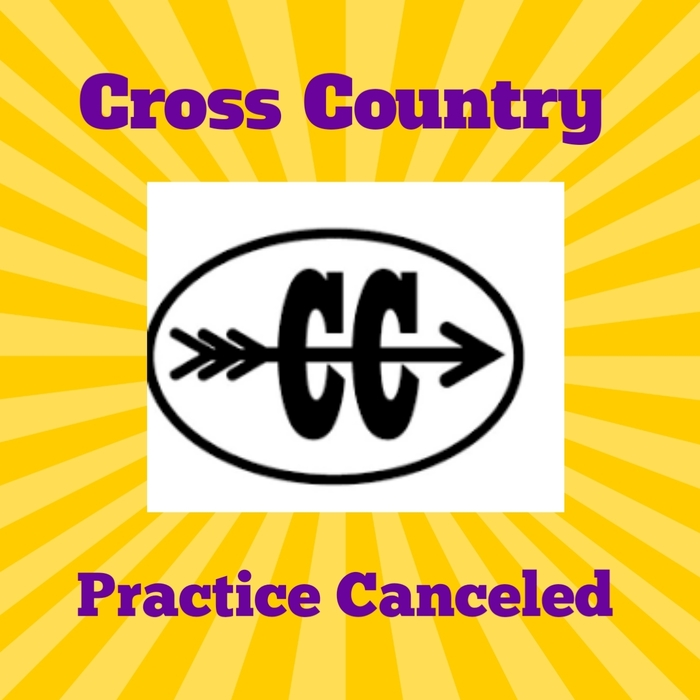 cross country practice canceled