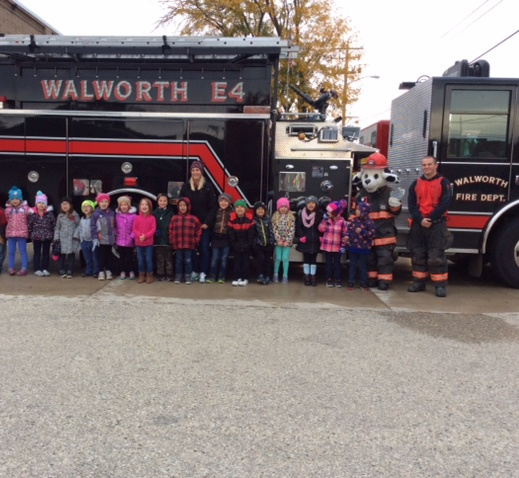 Mrs. Hummel's class at the fire station.