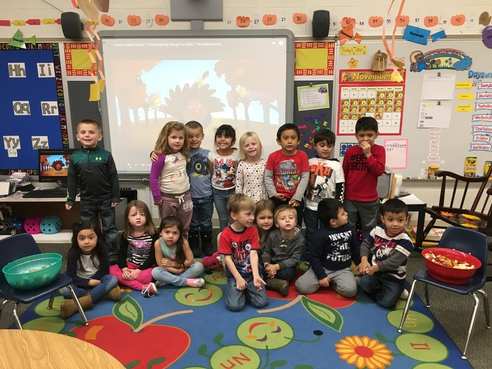 "Mrs. Janney's junior kindergarten class enjoyed making and eating ""Friendship Fruit Salad!""  Each child contributed one item to our ""fruit feast"" and they loved sharing with each other! #WalworthJ1"