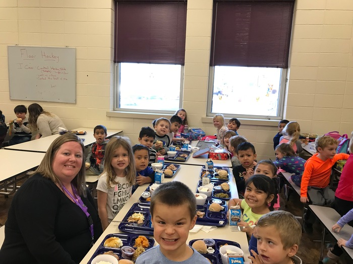 "Last week our staff and students enjoyed a delicious ""feast"" in honor of Thanksgiving. Our fall break begins tomorrow. Enjoy your time with family and friends! #WalworthJ1"
