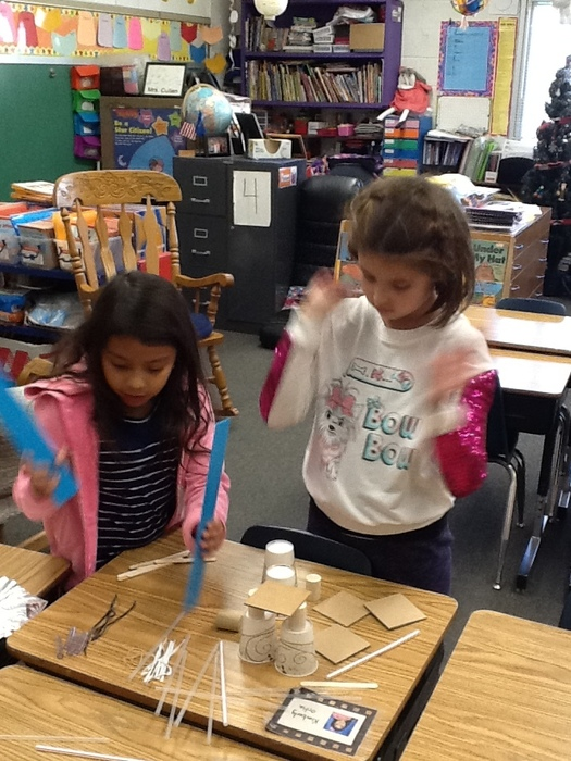 Students in Mrs. Cullen's class participated in a Tower Challenge. The challenge was to build a tower that was 45 centimeters tall and sturdy. #WalworthJ1