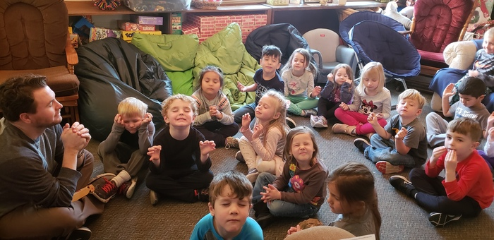 In junior kindergarten guidance class, students are learning about self-control and mindfulness!
