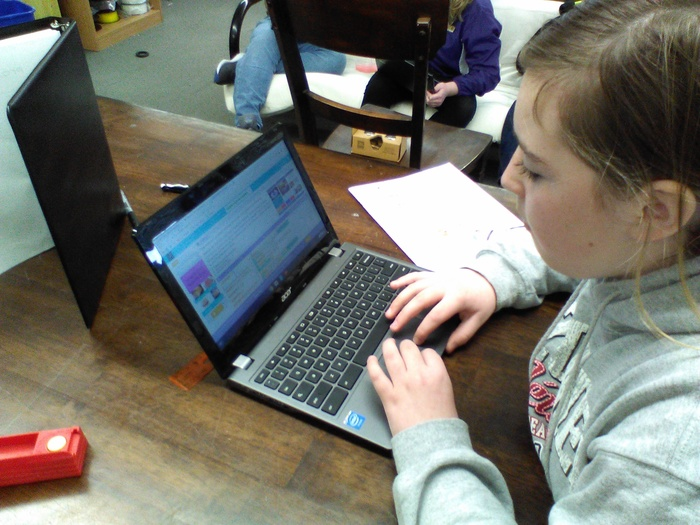 Some fifth and sixth graders learned how to create an app using Code.org at the Innovation and Design Center. #WalworthJ1 #WalworthSTEM
