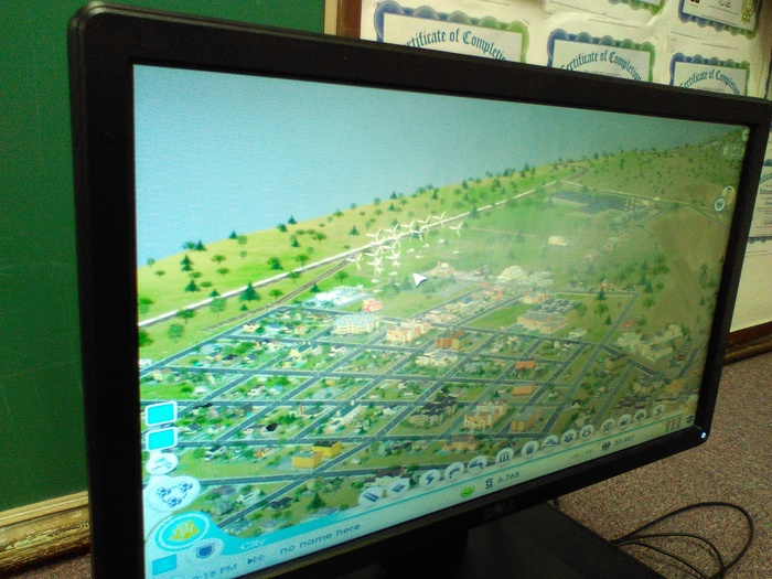 Seventh and eighth grade students are using SimCity in our Innovation and Design Center to learn about city management and planning. #WalworthJ1 #WalworthSTEM