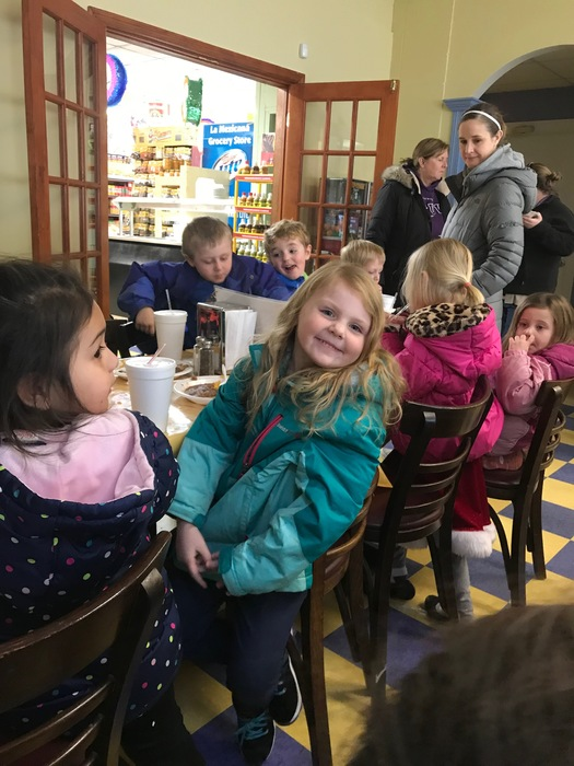 The junior kindergarten children took a walking field trip to Taqueria La Frontera! They were given a tour of the grocery store and then enjoyed a delicious meal of a taco, rice, beans, and chips! Such a wonderful experience for all! #WalworthJ1