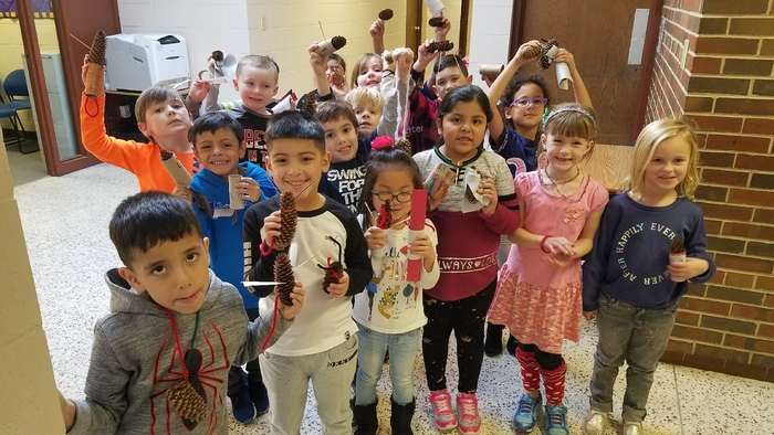 Check out these pinecone creations made by the kindergartners during Innovative and Design (IDC). #WalworthSTEM #WalworthJ1