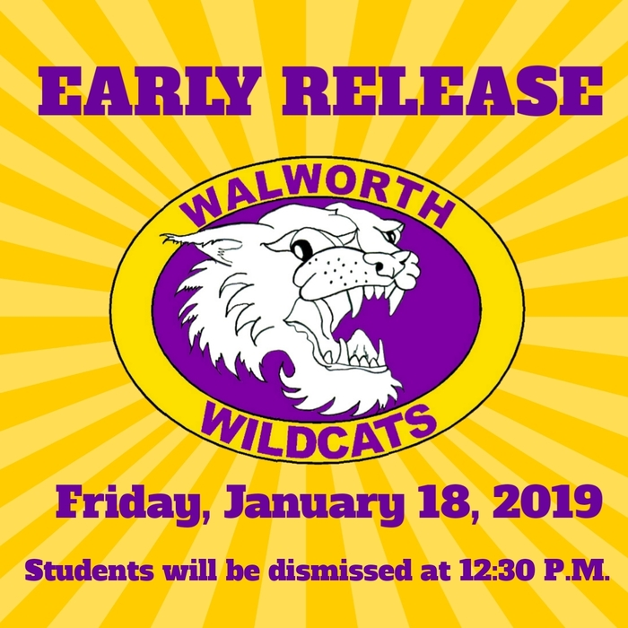 Early Release- Friday, January 18th