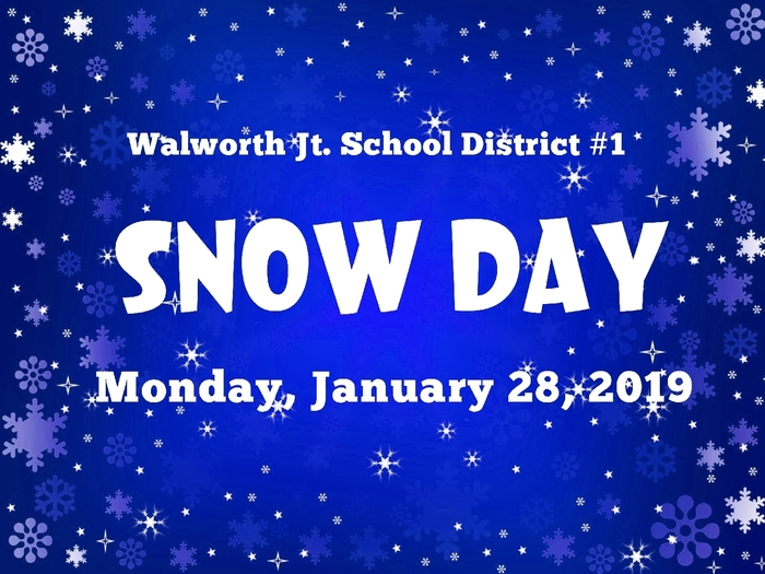 No School Monday, January 28