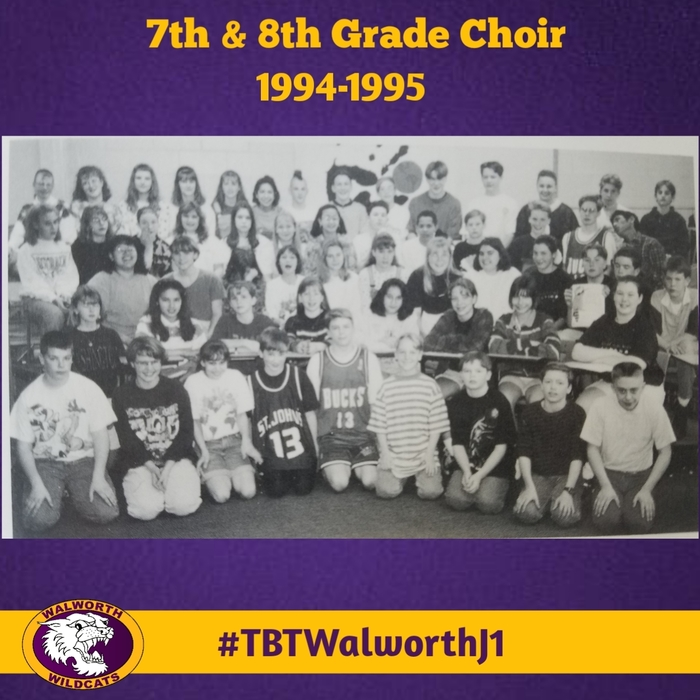 7th & 8th Grade Choir 1994-1995