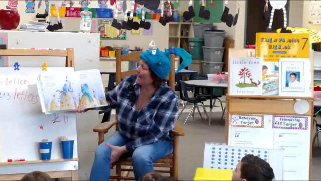 Danell Craig, with Dousman Bus Company, visited our JK/K classrooms to read Pout Pout Fish. She also gave each student a fun coloring page and bookmark!
