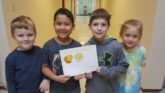 Congratulations to these Biscuit Book Hotshots! These students read all 19 Biscuit books and passed all the quizzes. Way to go readers! #WeLoveReading #WalworthProud #WalworthJ1
