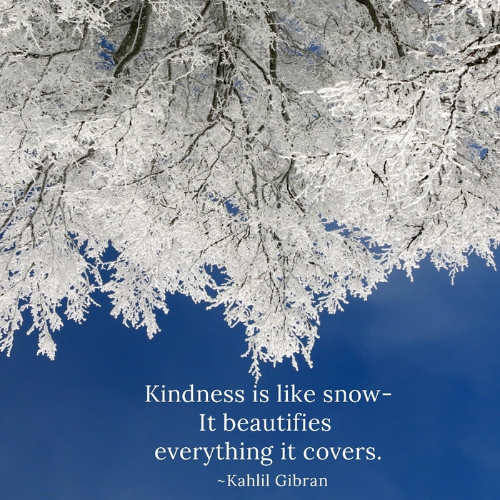 Kindness is like snow!