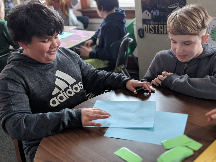It was a barrel of laughs in Room 214 while the sixth graders played Idiom Pictionary during their study of figurative language.