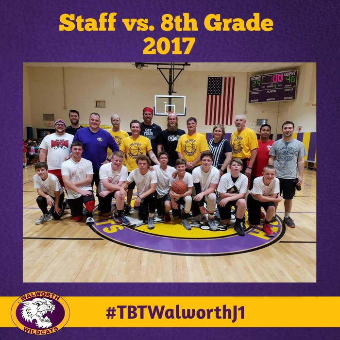 Staff vs. 8th Grade 2017 #tbt