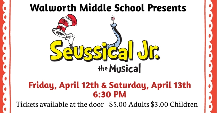 Walworth Middle School presents - Seussical Jr. the Musical
