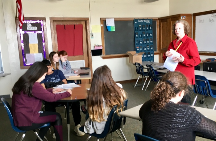 Guidance and Heyer's True Value partnered to educate all 8th-grade students about filling out job applications, interview skills, and being a responsible employee.