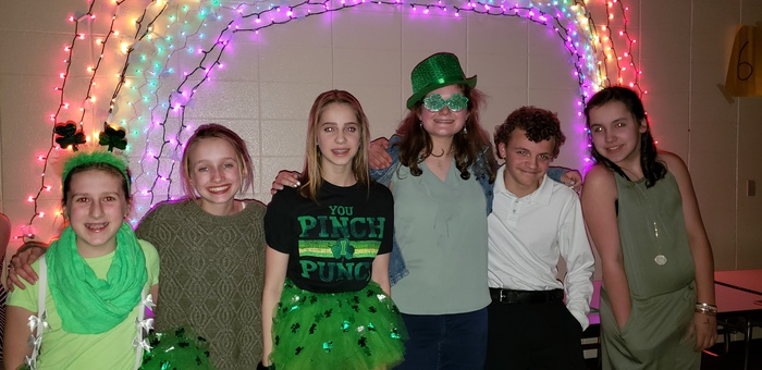 The 7th/8th grade Student Council St. Patrick's Day dance was fantastic! Students enjoyed dressing up, playing dance games, winning prizes, and socializing with friends! #WalworthJ1