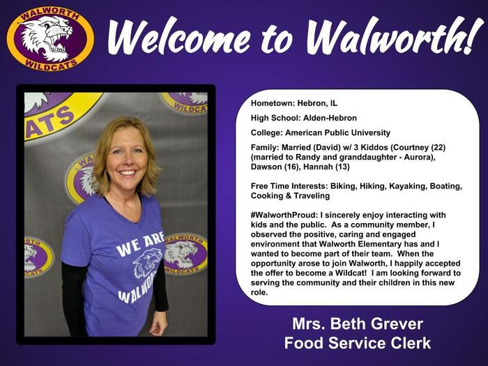 Welcome Mrs. Grever!