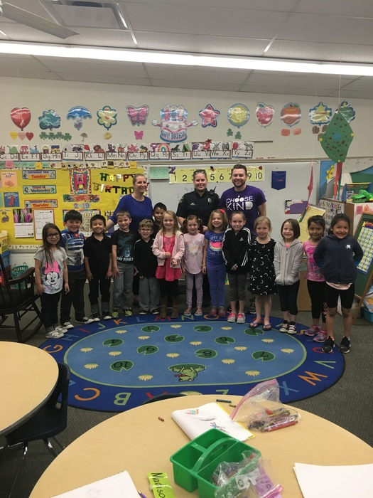 The Guidance Department and the Walworth Police Department have collaborated together to help protect Walworth School children and keep them safe. Officer Lewin talked with all kindergarten children about being safe kids and give DNA Safety kit.