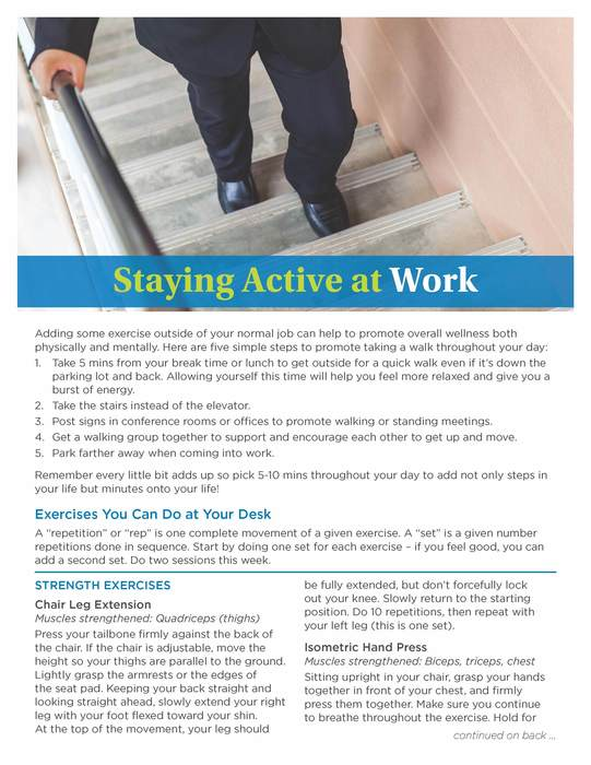 Stay Active At Work