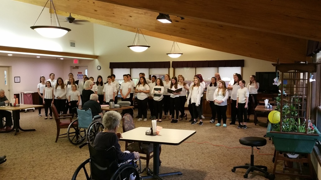 Last week the 7th/8th grade choir visited several nursing homes in the surrounding communities.