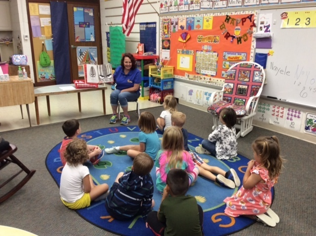Thank you to Mrs. Danell Craig, with Dousman Bus Company, for coming in to read The Bad Seed to our Junior Kindergarten and Kindergarten classes. We always enjoy this special time with you!