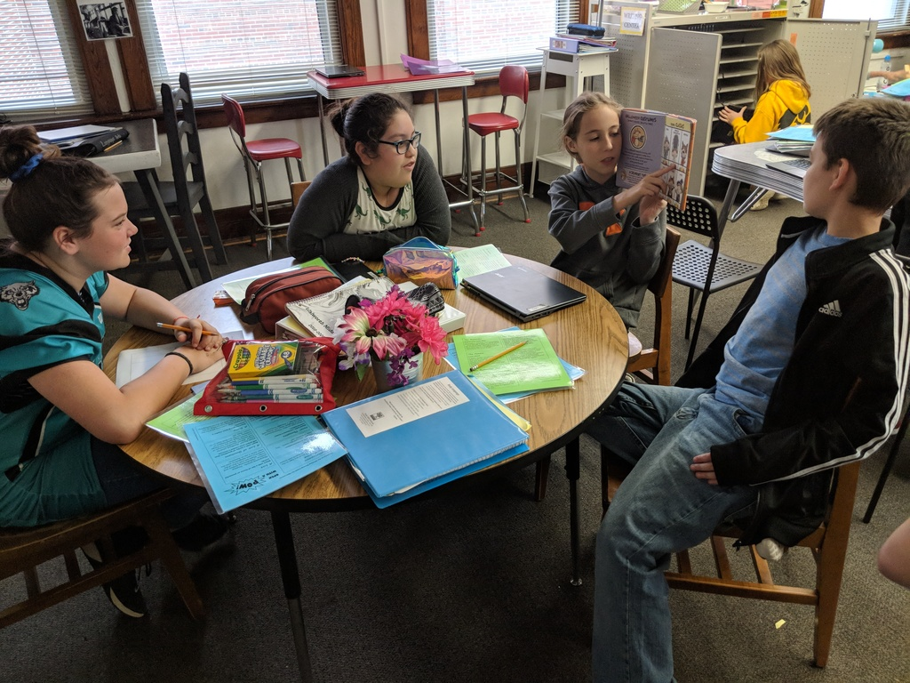 Dr. Hajewski's sixth graders practiced rewriting leads and conclusions in some of their favorite children's books. Students used a variety of techniques in order to lead with a POW and end with a BANG. #WalworthJ1