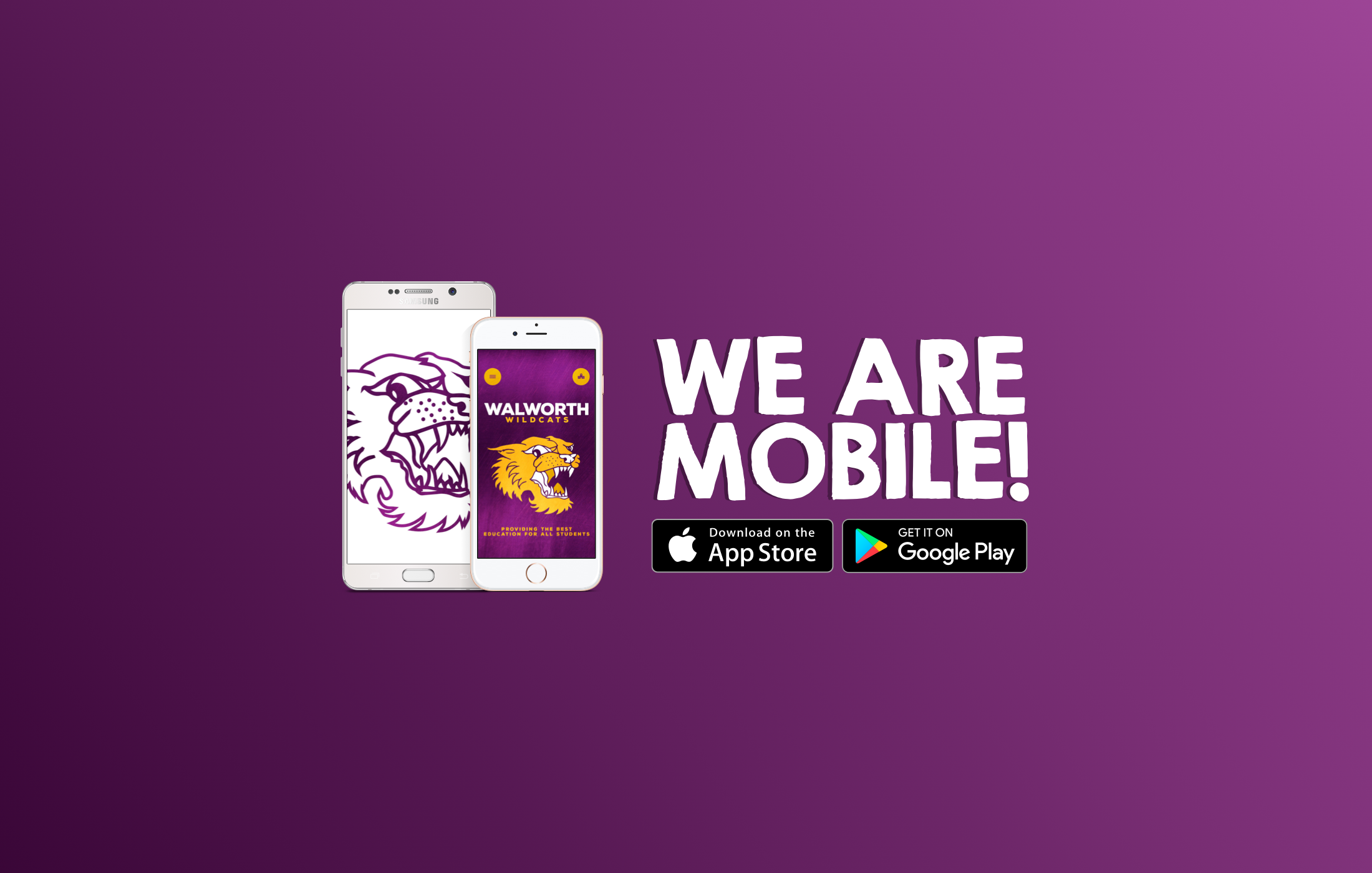 We Are Mobile Download in the App Store or Get it on Google Play